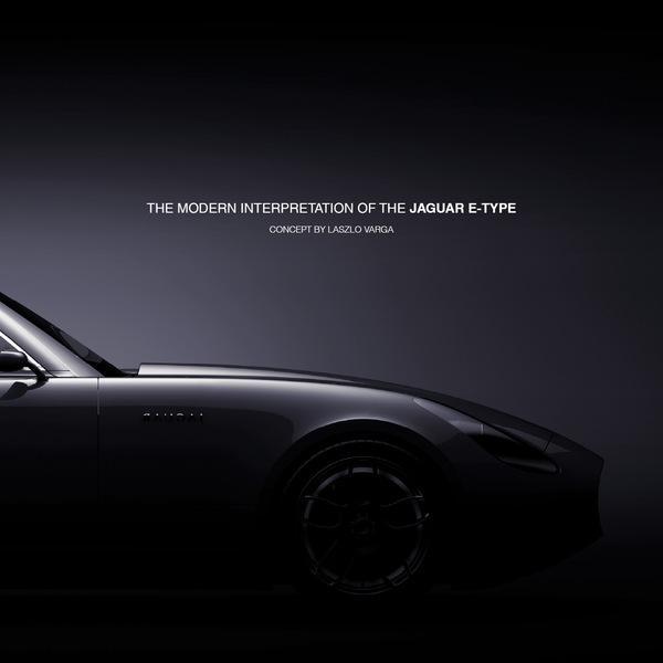 Jaguar E-type de concept sur le réseau