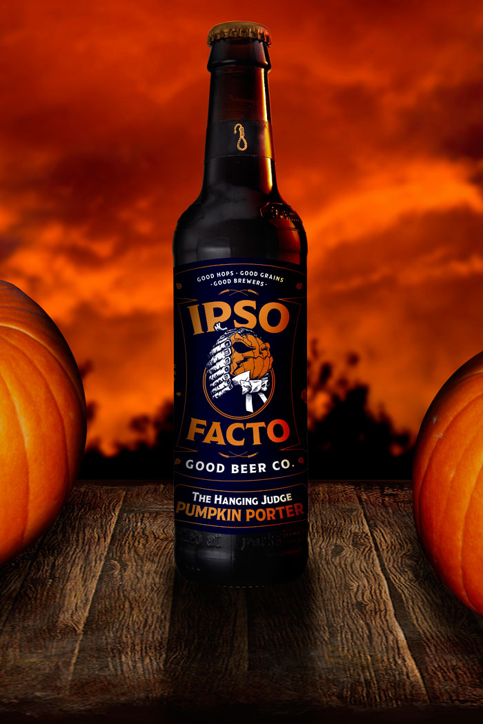 The Hanging Judge Pumpkin Porter - TheDieline.com - Package Design Blog