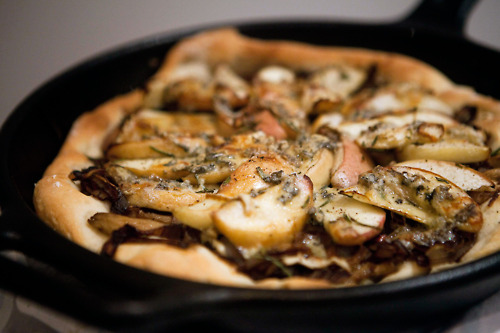 Peach, Mushroom and Blue Cheese Pizza I've been... • spork me