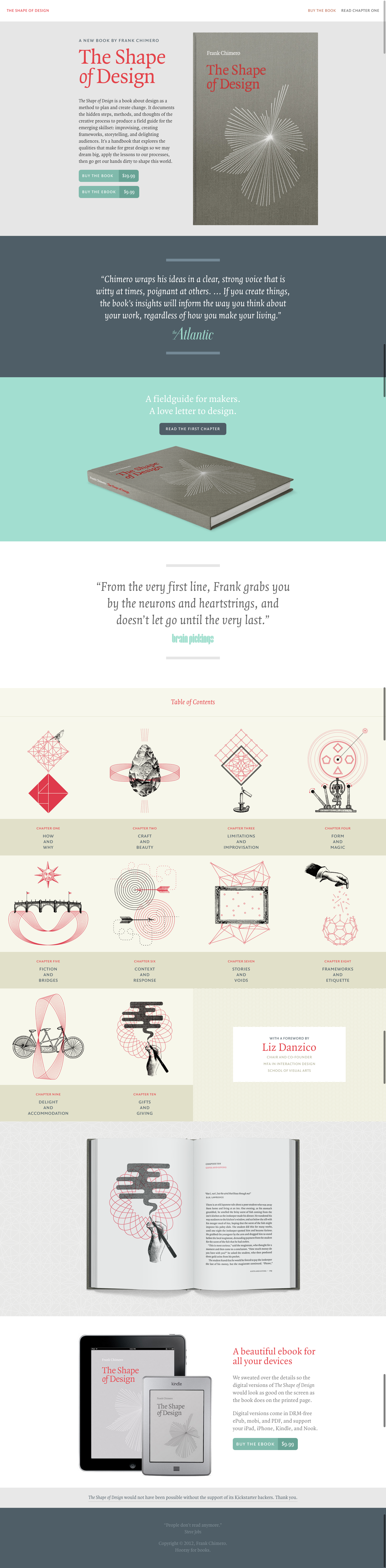 The Shape of Design - A book by Frank Chimero | Awesome Screenshot