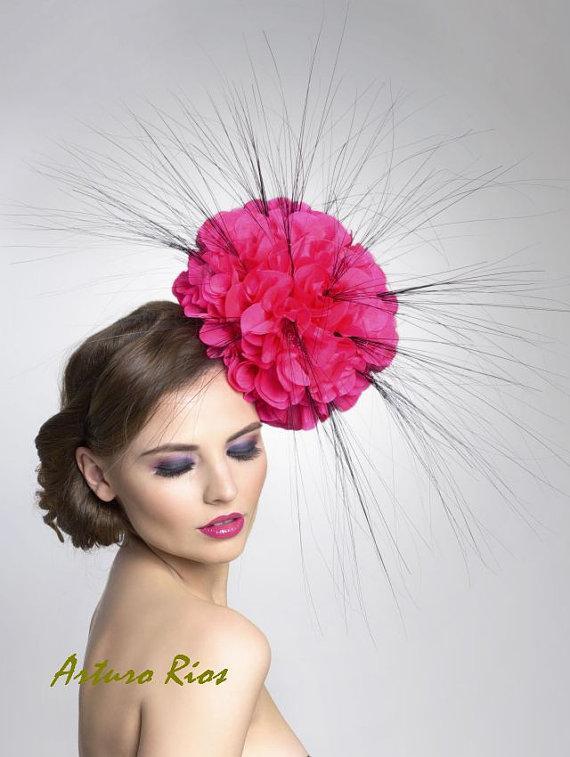 Silk Poppy Fascinator Headpiece by ArturoRios on Etsy