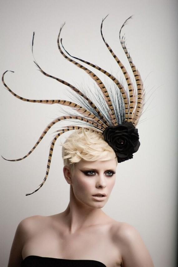 Pheasant Tale Fashion Headpiece Fascinatorcocktail by ArturoRios