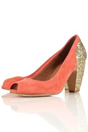 JAZZHANDS Glitter Peep Shoes - Low & Mid Heels - Heels - Shoes - Topshop USA