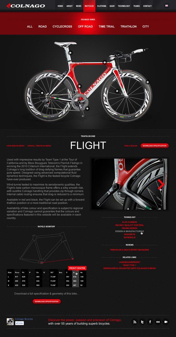 Colnago on Web Design Served