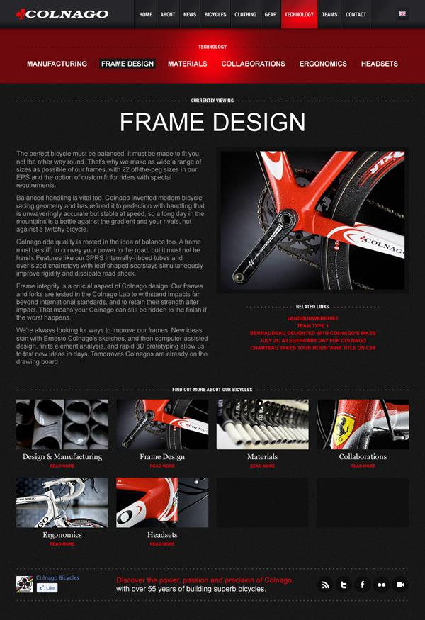 Colnago on Web Design Served