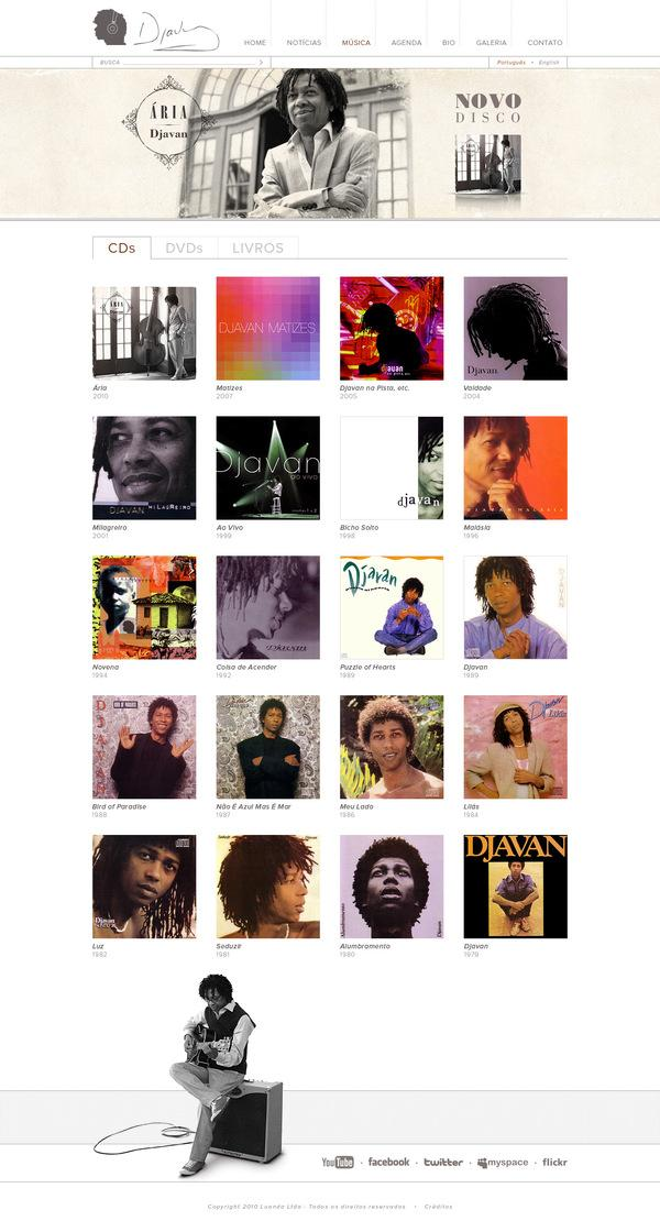 Djavan - Site (2010) on Web Design Served