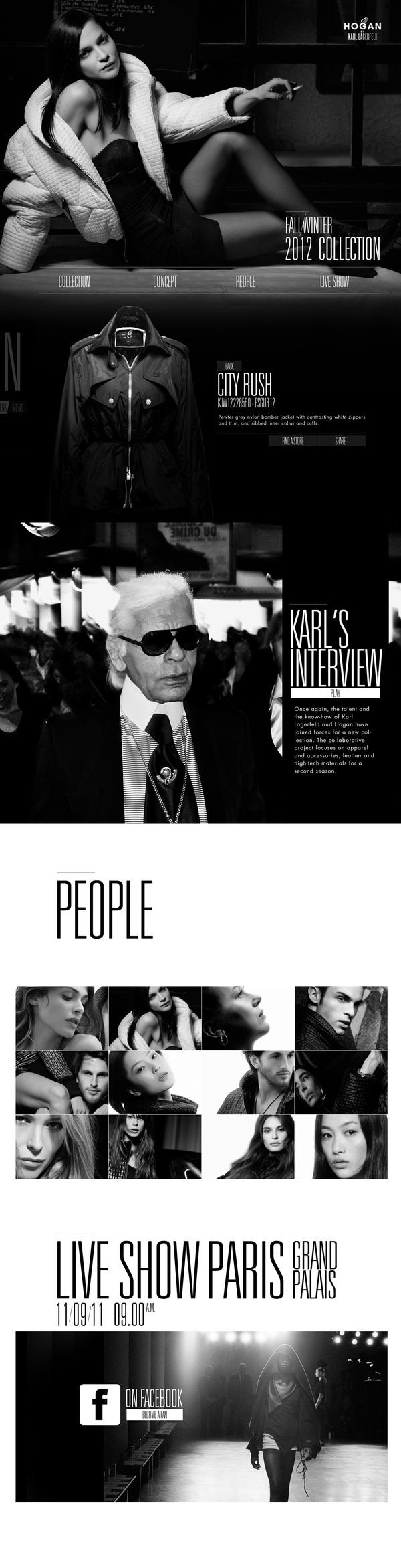 HOGAN BY KARL LAGERFELD on Web Design Served