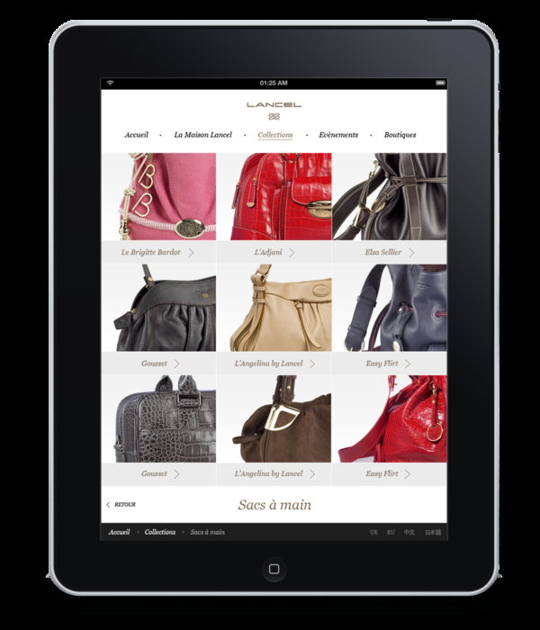 Lancel iPad [Proposal] on Web Design Served