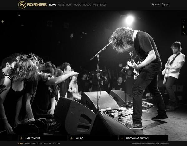 Foo Fighters Official Site on Web Design Served