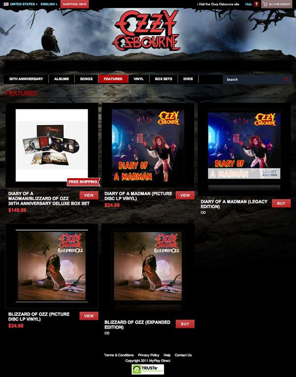 Ozzy's Official Site