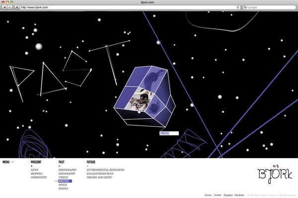 Bjork / Virgin / MySep11th on Web Design Served