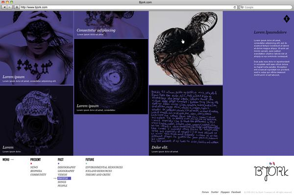 Bjork / Virgin / MySep11th on Web Design Served