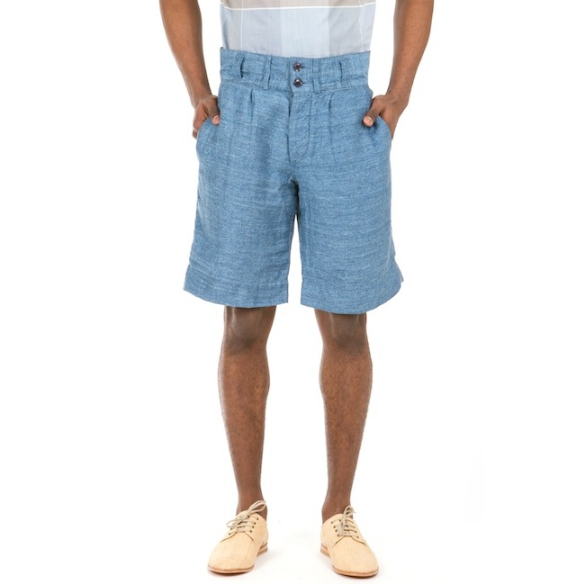 NIGEL CABOURN SUBMARINE LINEN SHORTS discount sale voucher promotion code | fashionstealer