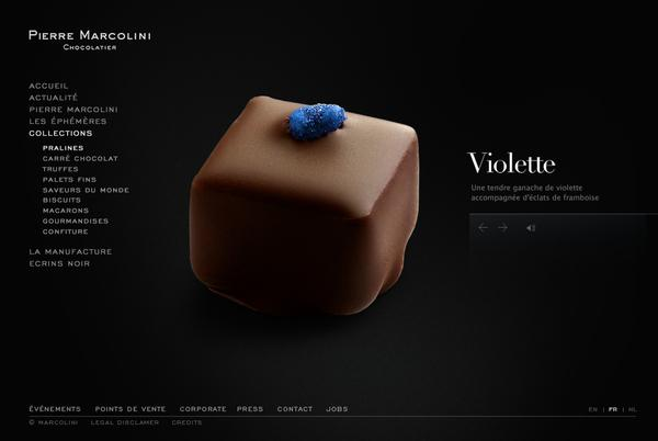Pierre Marcolini on Web Design Served