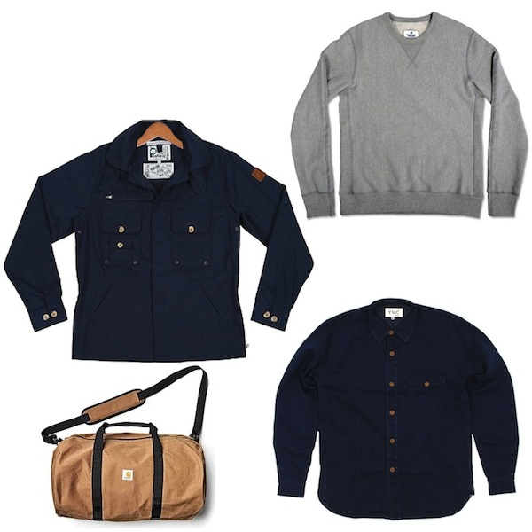Penfield Barnstable Jacket | YMC Hunter Shirt | Reigning Champ Grey Sweatshirt | Carhartt Duffle Bag discount sale voucher promotion code | fashionstealer