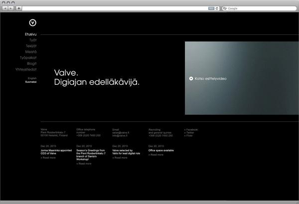 Valve.fi visuals on Web Design Served