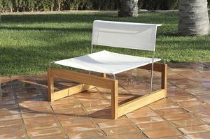 Contemporary garden deck chair - AVANA by Agustin Montero Toledano and Paul Gutierrez Caldero - Oi side