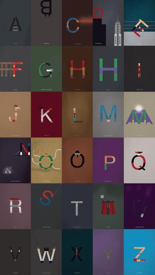 Helvetica Meets Super Heroes