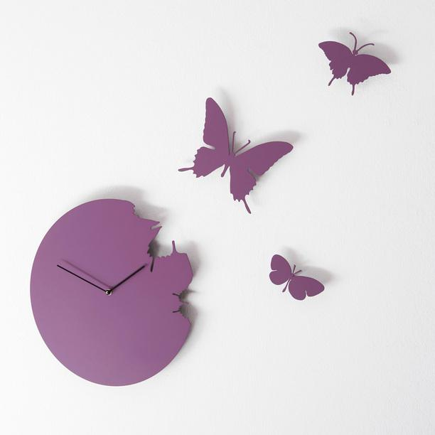 Fly Away Butterfly Clock - My Modern Metropolis