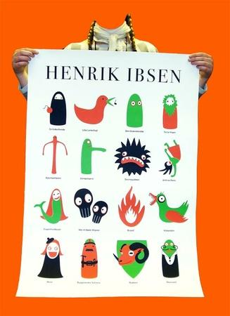 Henrik Ibsen silketrykk - Epla