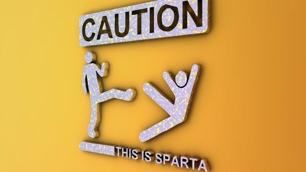 3D view,Sparta 3d view sparta humor signs warning caution stick figures 1920x1080 wallpaper – 3D Wallpaper – Free Desktop Wallpaper