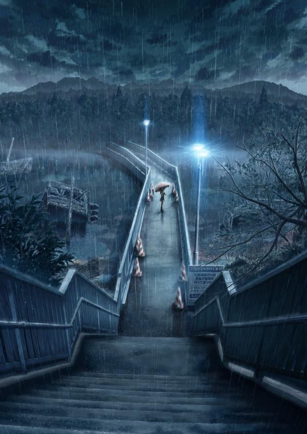 rain,alone rain alone bridges scenic anime umbrellas 2500x3536 wallpaper – Bridges Wallpaper – Free Desktop Wallpaper