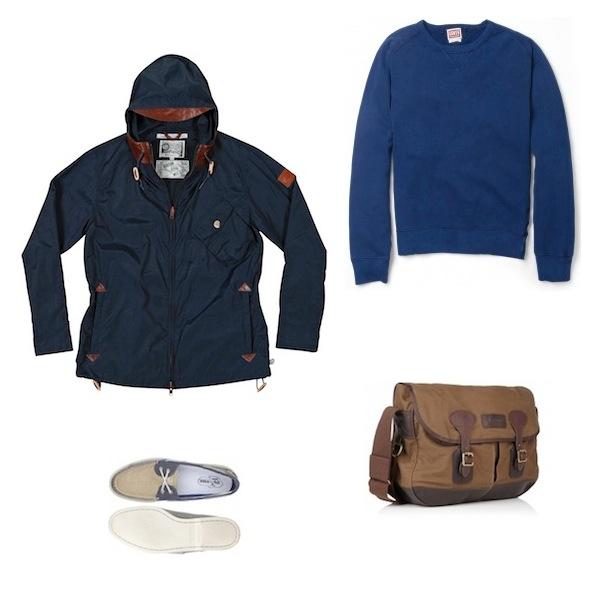 Penfield Dover Jacket Navy | Levis Vintage Indigo Loopback Sweater | Barbour Waxed Cotton Tarras Bag | Sperry Top-Sider Salt Wash Canvas Deck Shoes discount sale voucher promotion code | fashionstealer