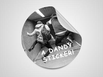 Dandy Sticker by Pedja Rusic