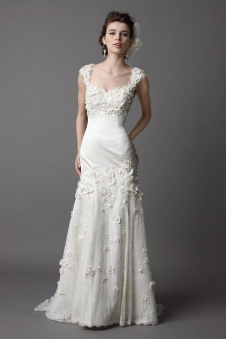Pretty sleeveless trumpet / mermaid floor-length wedding dress style 0bg01050 - $541| weddingdressbee.com