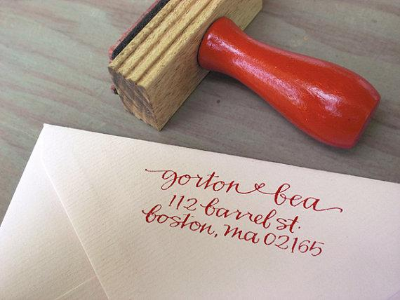 Custom Return Address Stamp // SIMPLE // hand by Primele on Etsy