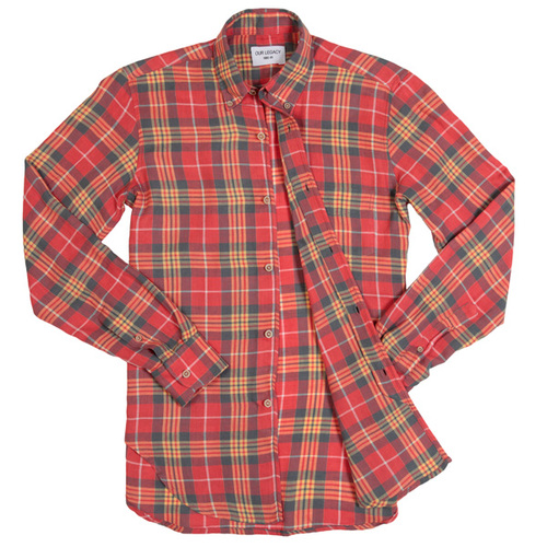Our Legacy Red Check Shirt discount sale voucher promotion code | fashionstealer