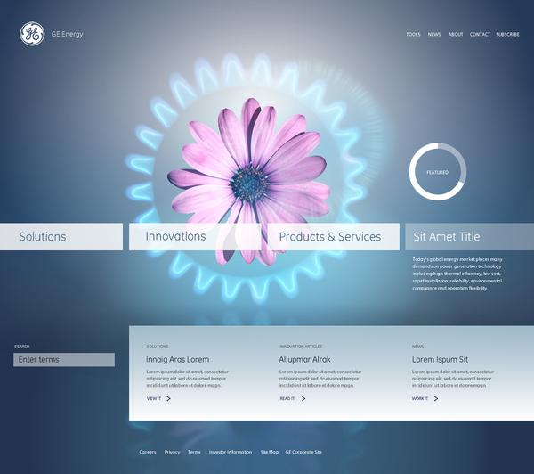 GE Energy Redesign on Web Design Served
