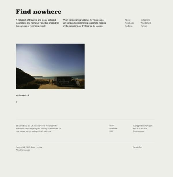 Find nowhere