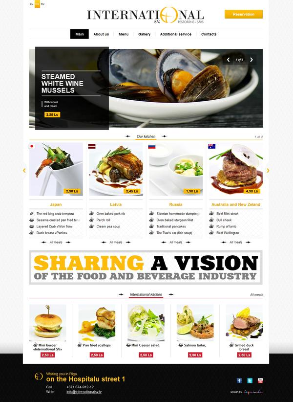 International restaurant on Web Design Served