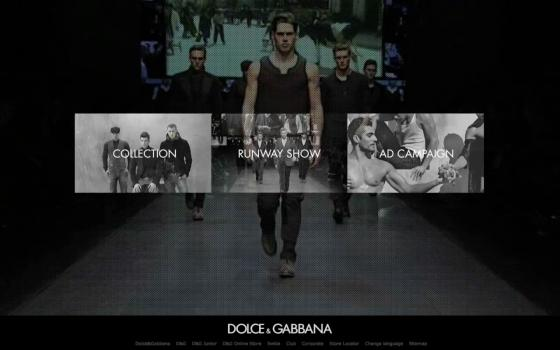 Dolce&Gabbana Relaunch // Fall Winter 2010 on Web Design Served