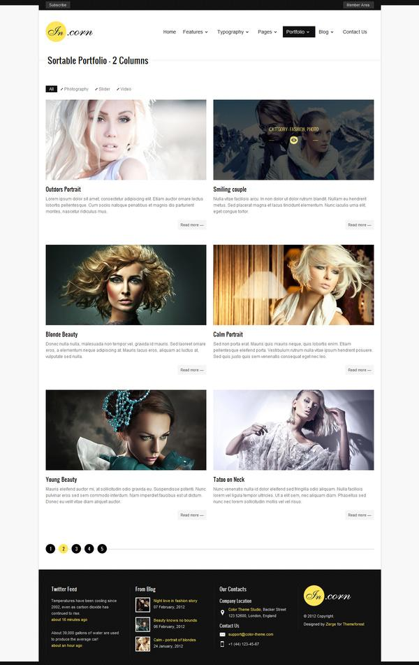 Incorn - Portfolio HTML Template on Web Design Served