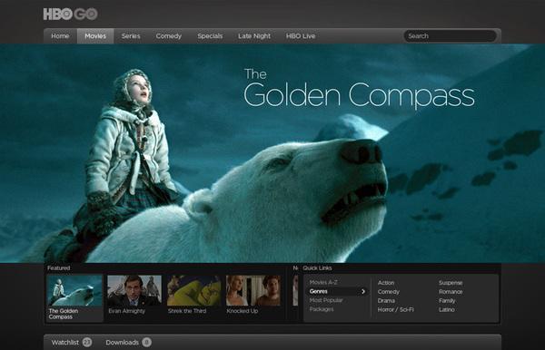 HBO HBOGO on Web Design Served