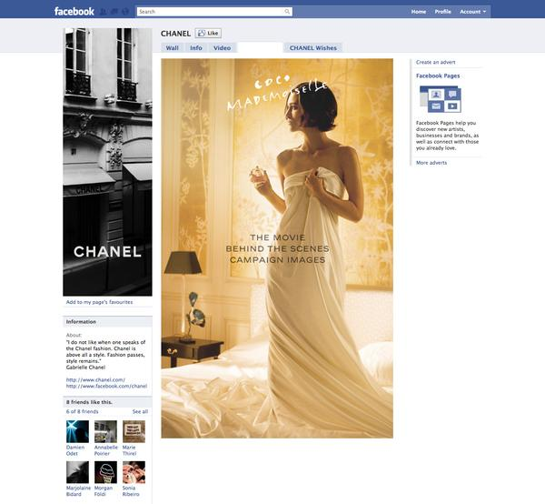 Chanel Designs & Wireframes on Web Design Served