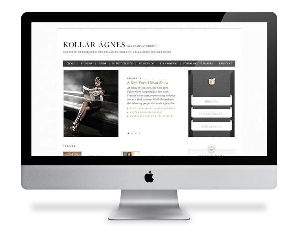Kollar Agnes Fashion on Web Design Served