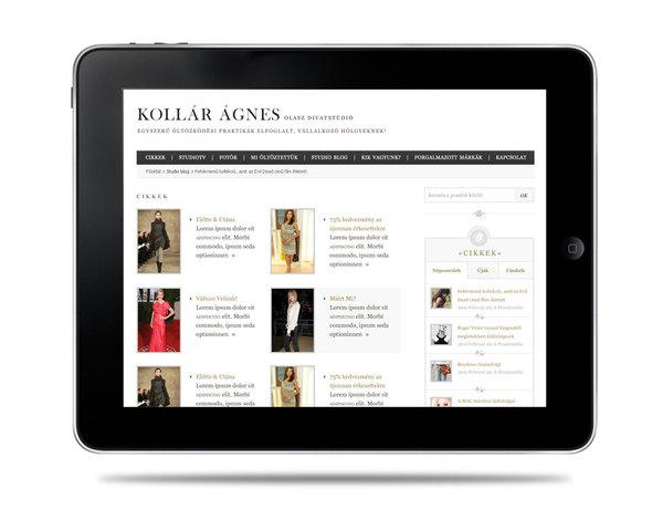 Kollar Agnes Fashion on Web Design Served