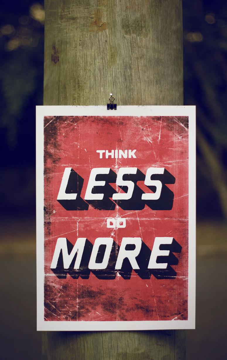 FPO: Think Less Do More Poster