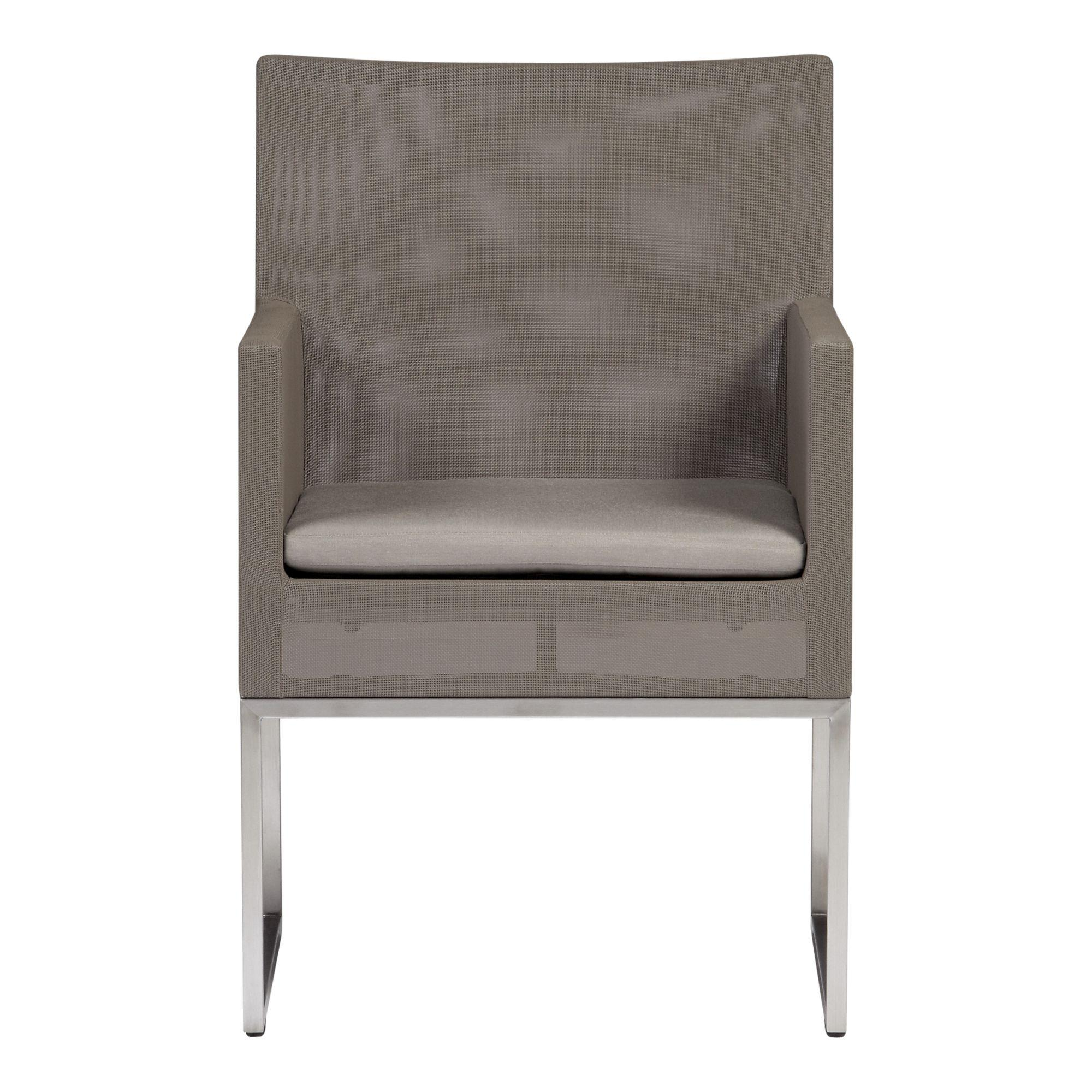 Dune Dining Chair with Sunbrella® Taupe Cushion in Outdoor Dining   Crate and Barrel