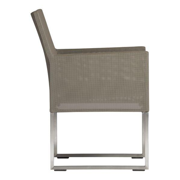 Dune Dining Chair with Sunbrella® Taupe Cushion in Outdoor Dining | Crate and Barrel