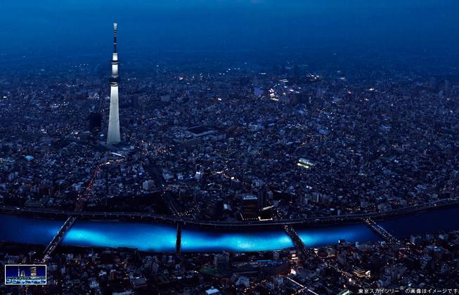100k LEDs floated the Sumida River Tokyo @ ShockBlast