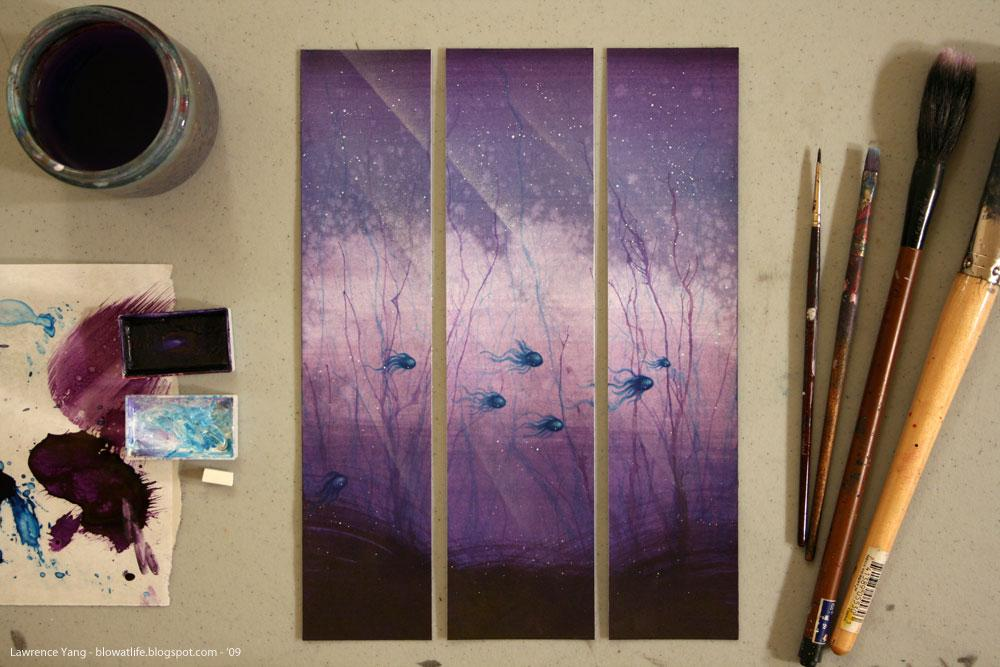 Fish Triptych - artwork by Lawrence Yang