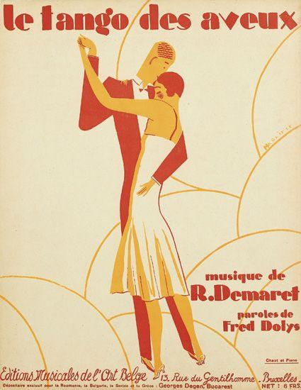 René Magritte's Little-Known Art Deco Sheet Music Covers from the 1920s | Brain Pickings