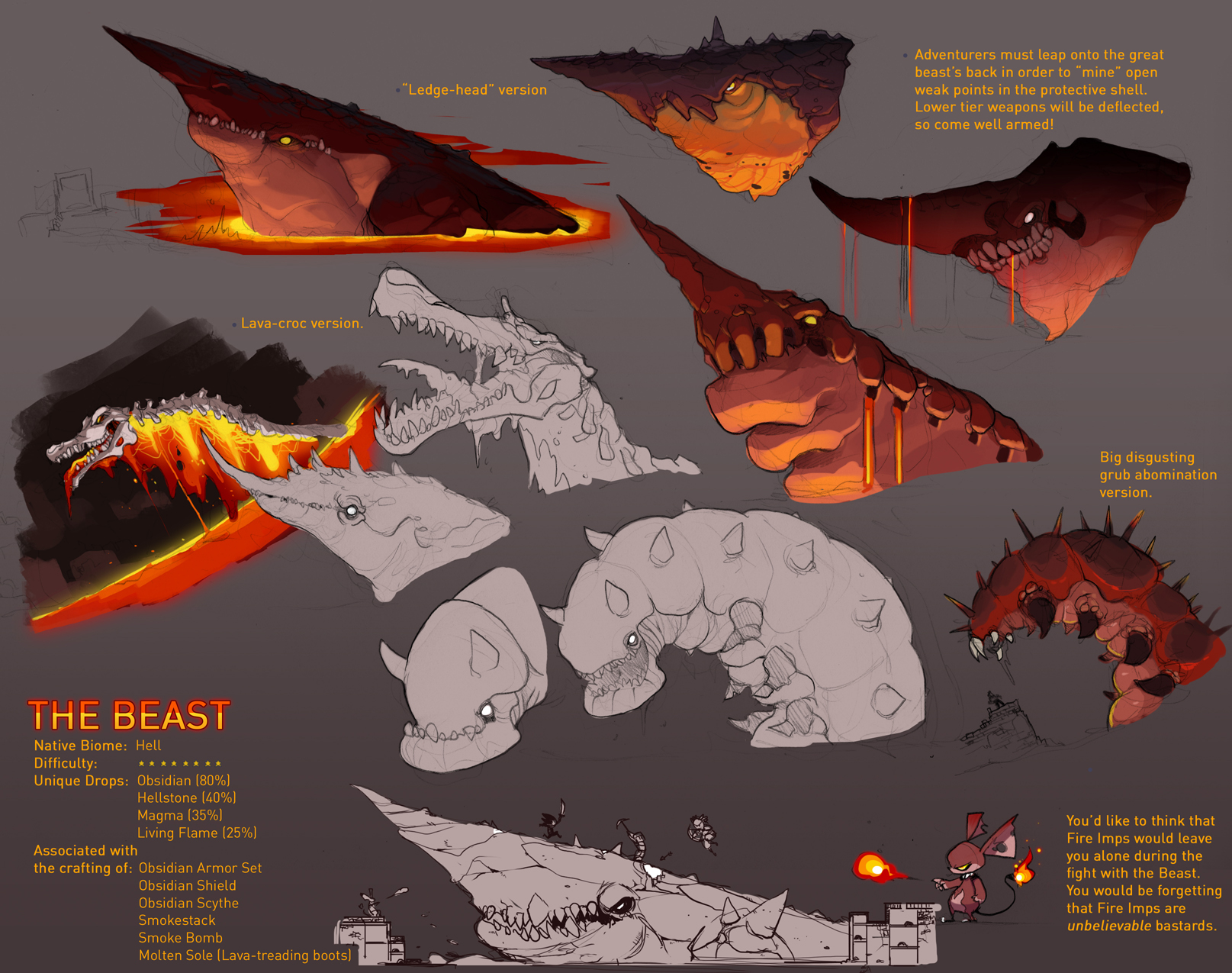 Terraria Boss - The Beast. by `Endling