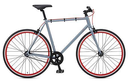 2012 Fuji Declaration Fixed Gear Bike Grey/Red - CityGrounds.com