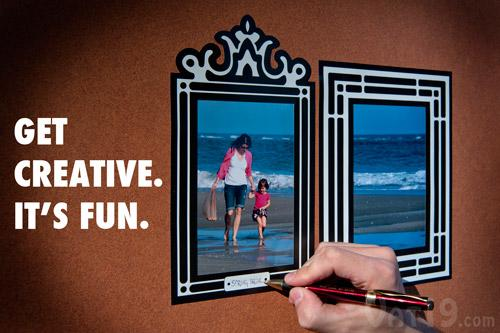 Stick'R Frames: Removable and Reusable Sticker Picture Frames