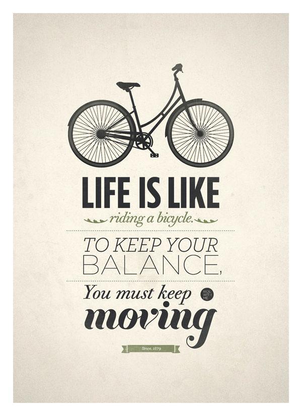 Das Leben ist wie Fahrrad fahren « Dressed Like Machines